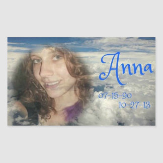 scheur ANNA Rechthoekige Sticker