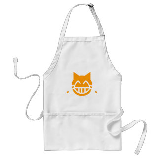 Scheuren van de Kat van Emoji van de Vreugde Standaard Schort