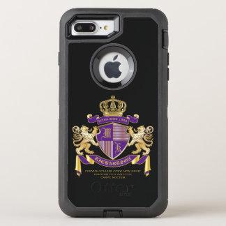 Schild van de Leeuw van het Embleem van het OtterBox Defender iPhone 8 Plus / 7 Plus Hoesje