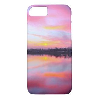 Schilderachtig Roze Landschap iPhone 7 Hoesje