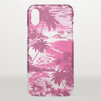 Schilderachtig Roze van het Eiland van de Baai van iPhone X Hoesje