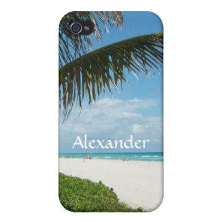 Schilderachtig Strand, de ZijTak van de Palm iPhone 4 Hoesje