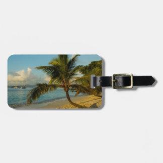 Schilderachtig strand kofferlabel
