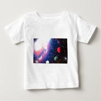 Schilderen van de Melkweg van de Kunst van de Verf Baby T Shirts