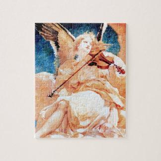 Schilderen van de Viool van de engel het Speel Puzzel