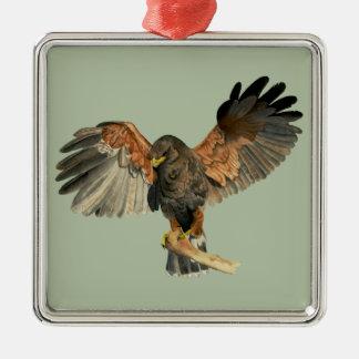 Schilderen van de Waterverf van de Vleugels van de Zilverkleurig Vierkant Ornament