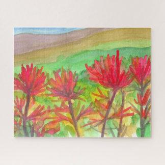 Schilderen van Wildflowers van het Penseel van Puzzel