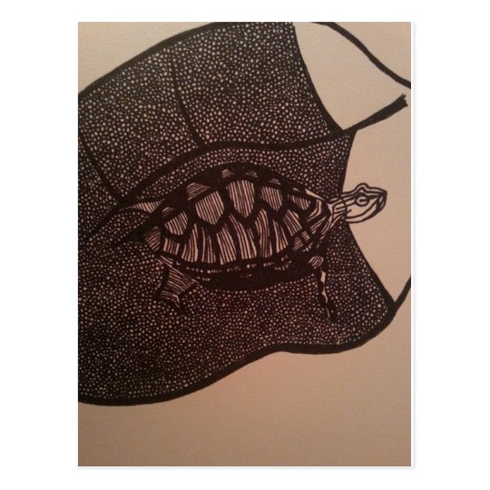 schildpad briefkaart