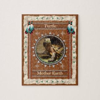 Schildpad - de Puzzel van de Aarde van de Moeder Puzzel