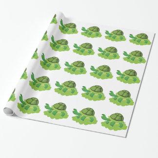 schildpad die in het gras lopen cadeaupapier
