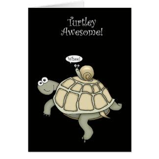 schildpad en slakbedankt briefkaarten 0