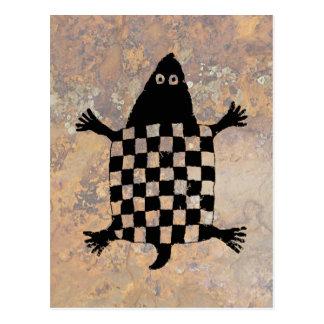 Schildpad, het Ontwerp van het Aardewerk Mimbres Briefkaart
