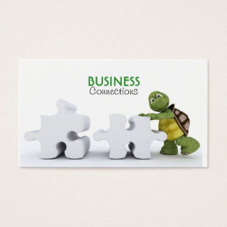 Schildpad met het Visitekaartje van het Stuk van Visitekaartjes