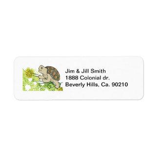 Schildpad op Wijnstokken Etiket
