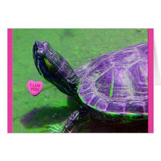 Schildpad Valentijn Kaart