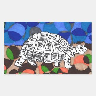 Schildpad van de Hoek van TWIS Blair de Dierlijke Rechthoekige Sticker