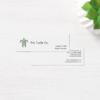 Schildpad van de Stijl van het letterzetsel de Mini Visitekaartjes