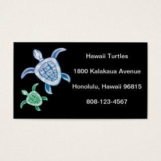 Schildpad van het Zee van Hawaï de Groene Visitekaartjes
