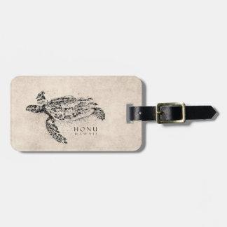 Schildpad van het Zee van Honu de Hawaiiaanse op Kofferlabel