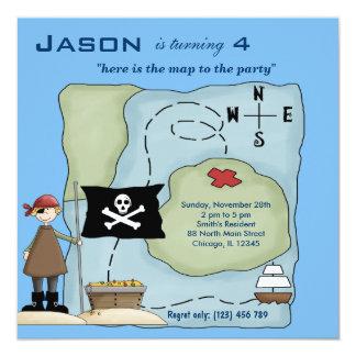 Schip Ahoy 13,3x13,3 Vierkante Uitnodiging Kaart
