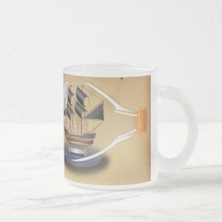 Schip in een Fles Matglas Koffiemok