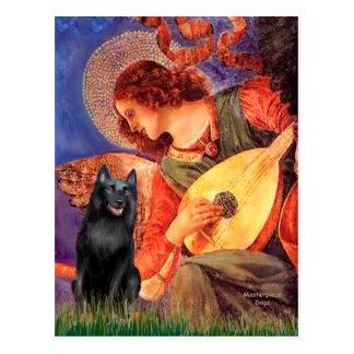 Schipperke 5 - de Engel van de Mandoline Briefkaart
