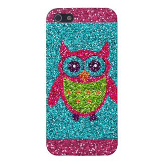 Schitter Blauwgroen Roze Groene Bling iPhone van d iPhone 5 Hoesjes