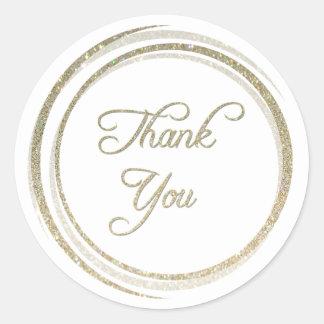 Schitter Cirkels dank u Sticker