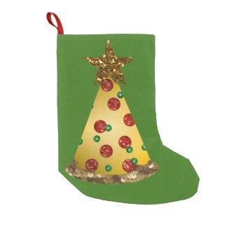 schitter de boomkous van pizzaKerstmis Kleine Kerstsok