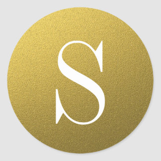 Schitter de Gouden Verbinding van de Envelop van Ronde Sticker