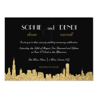 Schitter de Uitnodiging van het Huwelijk van de