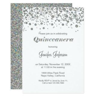 Schitter de zilveren Uitnodiging van