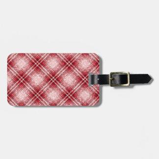 Schitter het Geruite Schotse wollen stof van het Kofferlabel