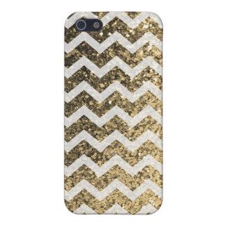 Schitter het Patroon van de Chevron van Bling iPhone 5 Covers