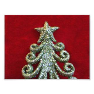 Schitter Kerstboom Fotoafdruk