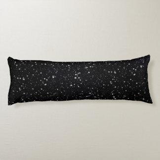 Schitter Stars2 - Zilveren Zwarte Lichaamskussen