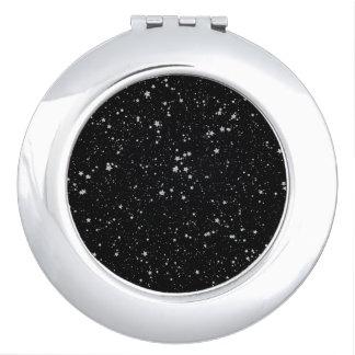 Schitter Stars2 - Zilveren Zwarte Make-up Spiegel