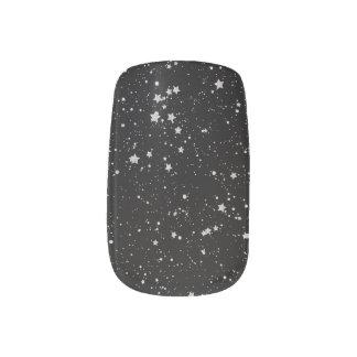 Schitter Stars2 - Zilveren Zwarte Minx Nail Art