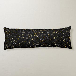 Schitter Stars3 - Gouden Zwarte Lichaamskussen