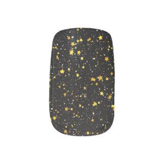 Schitter Stars3 - Gouden Zwarte Minx Nail Folie