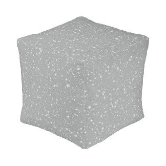 Schitter Stars4 - Zilver Poef
