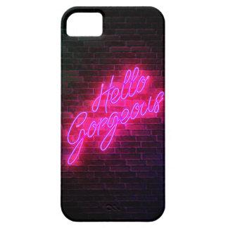 Schitterend Hello - het Teken van het Neon Barely There iPhone 5 Hoesje