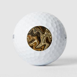 Schitterende Marmeren Stijl - Warme bruin Golfballen