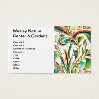 Schitterende Wervelende Bloemen Visitekaartjes