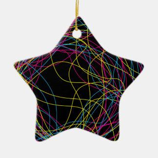 Schitterende zwarte ceramische ster keramisch ster ornament