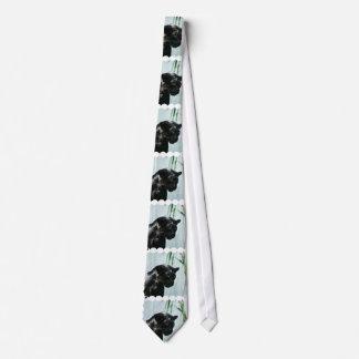 Schitterende Zwarte Panter Custom Stropdas
