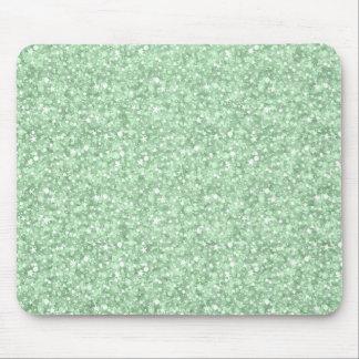 Schittert de Groene Disco Faux van de pastelkleur Muismatten