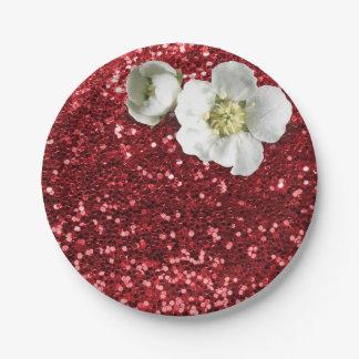Schittert de Robijnrode Rode Witte Jasmijn van Papieren Bordjes