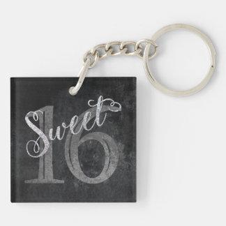 schittert Grijs | Zoet Zilver 16 van de 16de Sleutelhanger