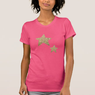 Schittert Trendy Faux van vrouwen de T-shirt van